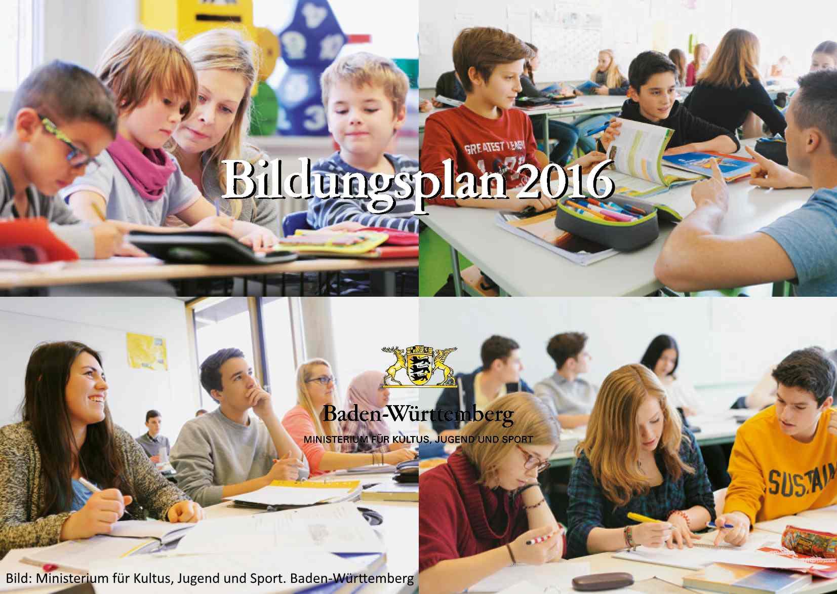 Bildungspläne Baden Württemberg